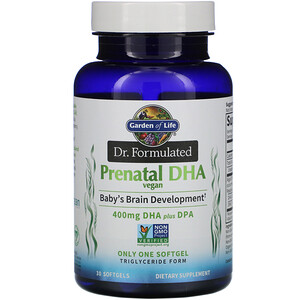 Garden of Life, Dr. Formulated, Vegan Prenatal DHA, 400 mg , 30 Softgels