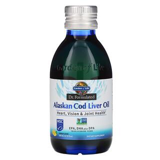 Garden of Life, 専門家監修、アラスカ産タラ肝油、レモン、200ml(6.76液量オンス)