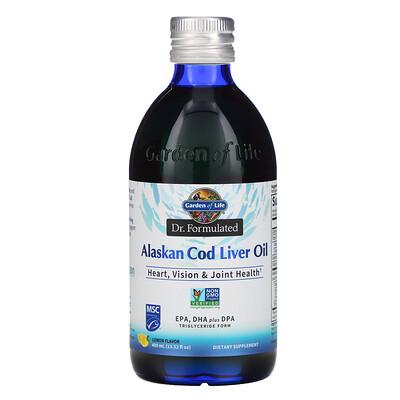 Купить Garden of Life Dr. Formulated, Alaskan Cod Liver Oil, Lemon, 13.52 fl oz (400 ml)