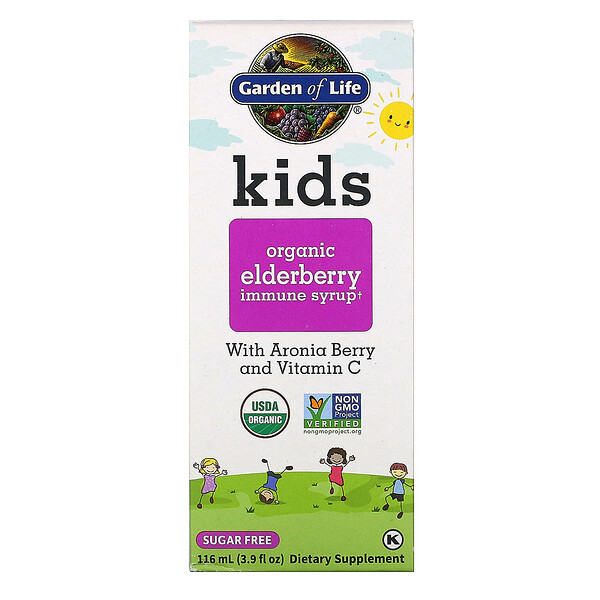 Kids Organic Elderberry Immune Syrup , 3.9 fl oz (116 ml)