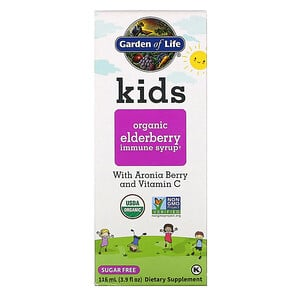 Garden of Life, Kids Organic Elderberry Immune Syrup , 3.9 fl oz (116 ml)