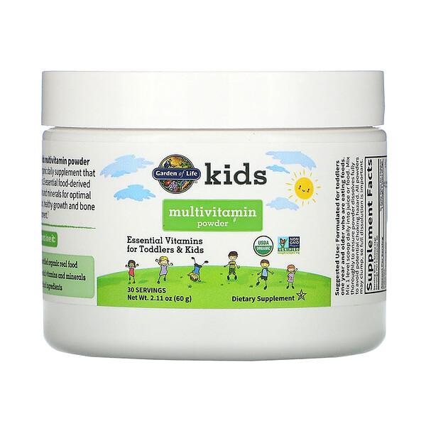 Garden of Life, Kids Multivitamin 2.11 oz (60 g) Powder