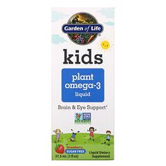 Garden of Life, 兒童植物 Omega-3 液體,草莓味,2 液量盎司(57.5 毫升)