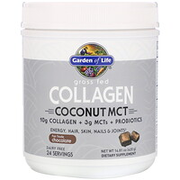 Garden of Life, Grass Fed Collagen, Coconut MCT, Chocolate, 14.81 oz (420 g)