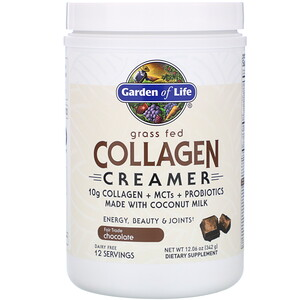 Garden of Life, Grass Fed Collagen Creamer, Chocolate, 12.06 oz (342 g)