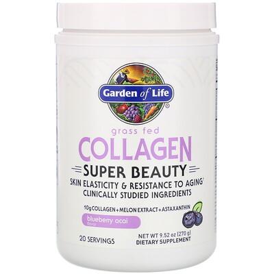 Купить Garden of Life Super Beauty, экологически чистый коллаген, черника и асаи, 270г (9, 52унции)