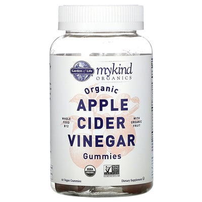 Garden of Life MyKind Organics, Organic Apple Cider Vinegar Gummies, 60 Vegan Gummies