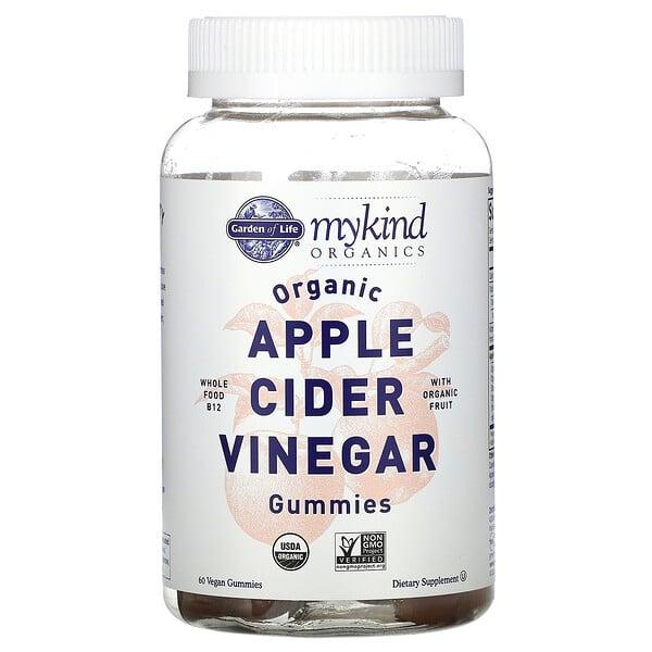 Garden of Life, MyKind Organics, Organic Apple Cider Vinegar Gummies, 60 Vegan Gummies