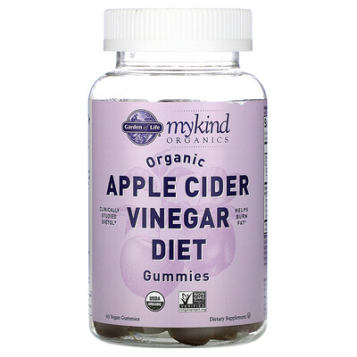 Garden of Life MyKind Organics, Organic Apple Cider Vinegar Diet Gummies, 63 Vegan Gummies