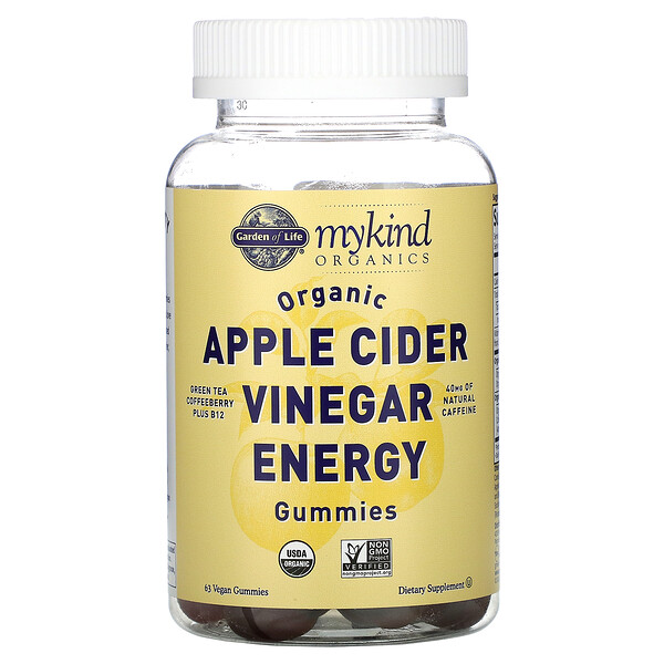 Organic Apple Cider Vinegar Energy Gummies, 63 Vegan Gummies