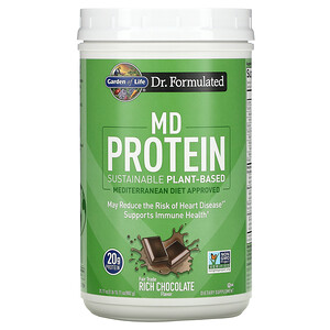 Garden of Life, MD Protein, Sustainable Plant-Based, Rich Chocolate, 31.11 oz (882 g)