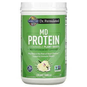 Garden of Life, MD Protein, Sustainable Plant-Based, Creamy Vanilla, 29.63 oz (840 g)