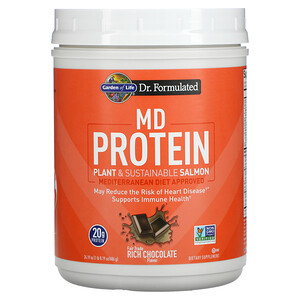 Garden of Life, MD Protein, Plant & Sustainable Salmon, Rich Chocolate, 24.19 oz (686 g)