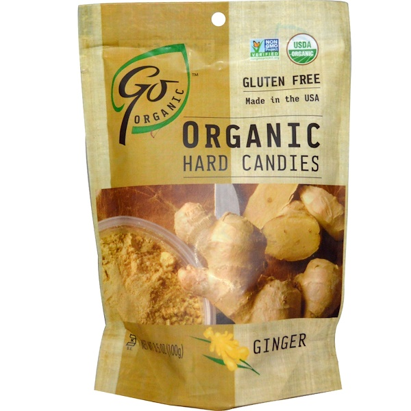 GoOrganic, Organic Hard Candies, Ginger, 3.5 oz (100 g)