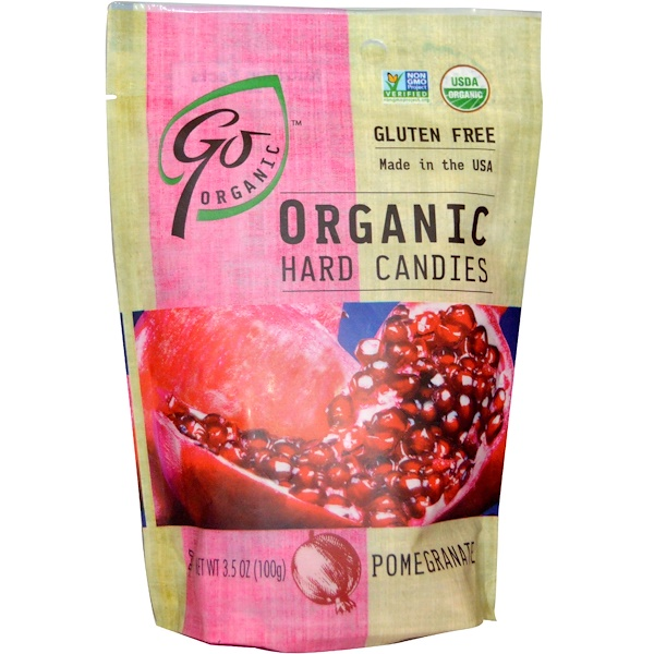 GoOrganic, Organic Hard Candies, Pomegranate, 3.5 oz (100 g) (Discontinued Item)