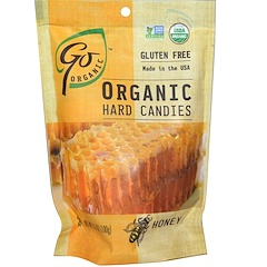 Go Organic, Organic Hard Candies, Honey, 3.5 oz (100 g)