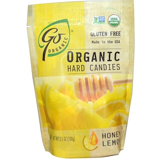 Go Organic, Organic Hard Candies, Honey Lemon, 3.5 oz (100 g)