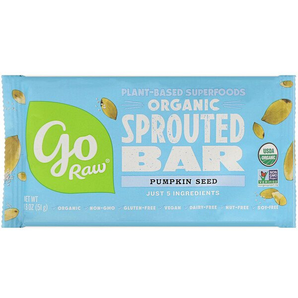 Organic, Pumpkin Seed Sprouted Bar, 1.8 oz (51 g)