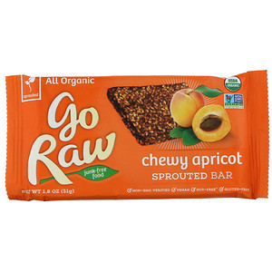 Го Ро, Organic, Chewy Apricot Sprouted Bar, 1.8 oz (51 g) отзывы покупателей