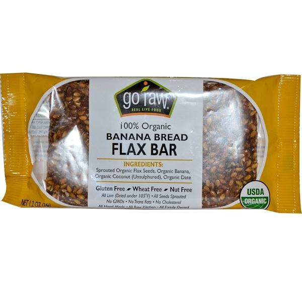 Go Raw, Organic Banana Bread Flax Bar, 1.2 oz (34 g) (Discontinued Item)
