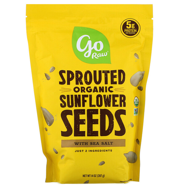 Organic Sprouted Sunflower Seeds with Sea Salt, 14 oz (397 g)