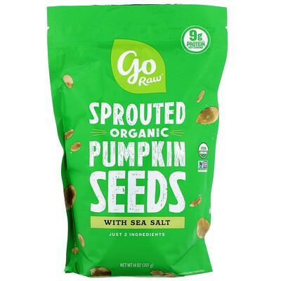 Купить Organic Sprouted Pumpkin Seeds with Sea Salt, 14 oz (397 g)