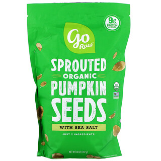 Go Raw, Organic Sprouted Pumpkin Seeds with Sea Salt, 14 oz (397 g)