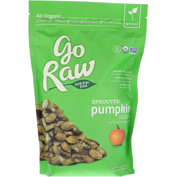 Go Raw, Organic, Sprouted Pumpkin Seeds with Celtic Sea Salt, 16 oz (454 g)