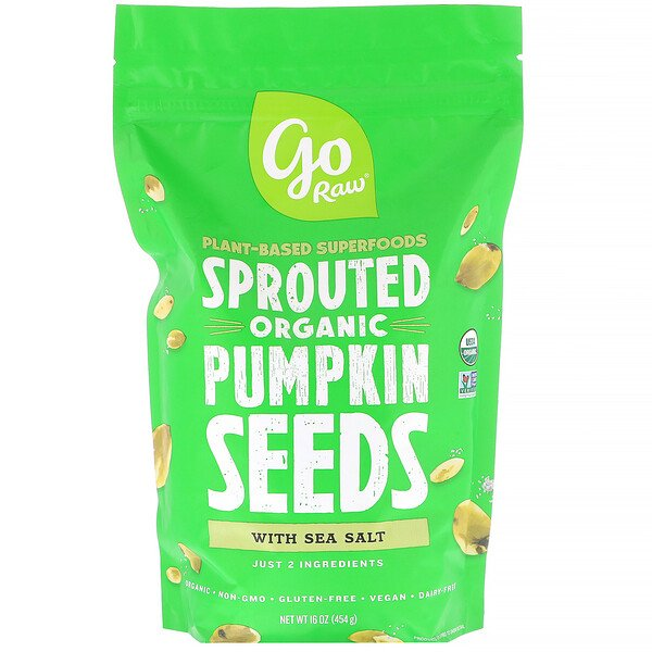 Go Raw, Organic Sprouted Pumpkin Seeds with Sea Salt, 16 oz (454 g) (Discontinued Item)