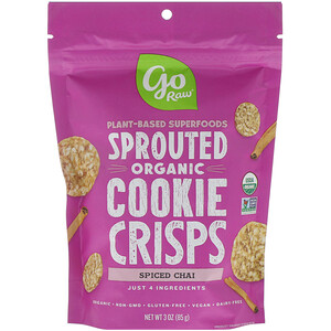 Го Ро, Organic, Sprouted Cookie Crisps, Spiced Chai, 3 oz (85 g) отзывы покупателей