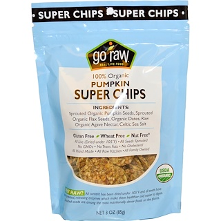 Go Raw, Organic Super Chips, Pumpkin, 3 oz (85 g)
