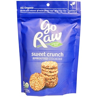 Go Raw, Organic, Sweet Crunch Sprouted Cookies, 3 oz (85 g)