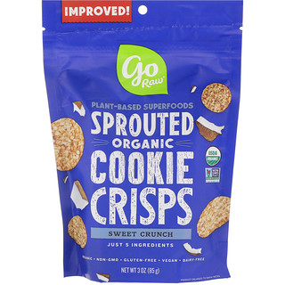 Go Raw, Organic, Sprouted Cookie Crisps, Sweet Crunch, 3 oz (85 g)
