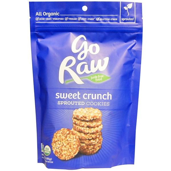 Go Raw, Органическое печенье с проростками, сладкий хруст, 3 унции (85 г)