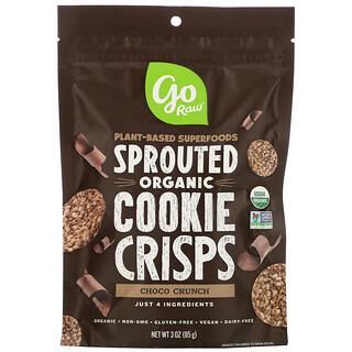 Go Raw, органическое шоколадное хрустящее печенье с пророщенными зернами, 85г (3унции)