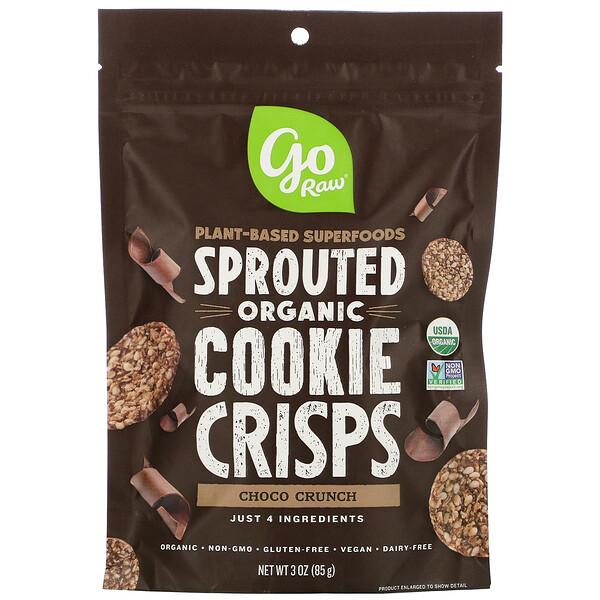 オーガニック、スプラウテッドクッキークリスプ、チョコクランチ、85g(3オンス)