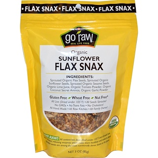 Go Raw, Organic Sunflower Flax Snax, 3 oz (85 g)