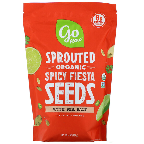 Go Raw, Organic Sprouted Spicy Fiesta Seeds with  Sea Salt, 14 oz (397 g)