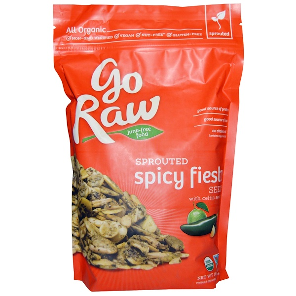 Go Raw, Organic Sprouted Spicy Fiesta Seeds with Celtic Sea Salt, 16 oz (454 g)