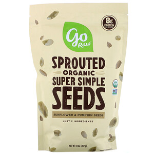 Го Ро, Organic Sprouted Super Simple Seeds, Sunflower & Pumpkin Seeds, 14 oz (397 g) отзывы покупателей