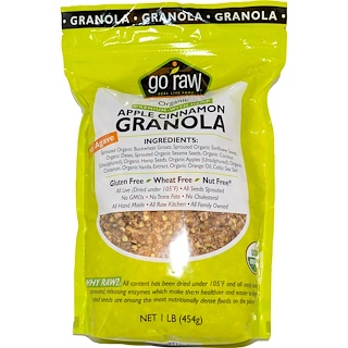 Go Raw, Organic Granola, Apple Cinnamon, 1 lb (454 g)