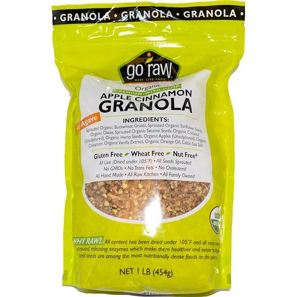 Go Raw, Organic Granola, Apple Cinnamon, 1 lb (454 g)