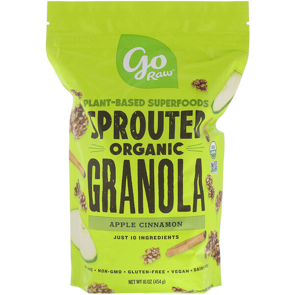 Organic Sprouted Granola, Apple Cinnamon, 16 oz (454 g)