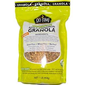 Go Raw, 有機グラノーラ, アップルシナモン, 1ポンド (454 g)