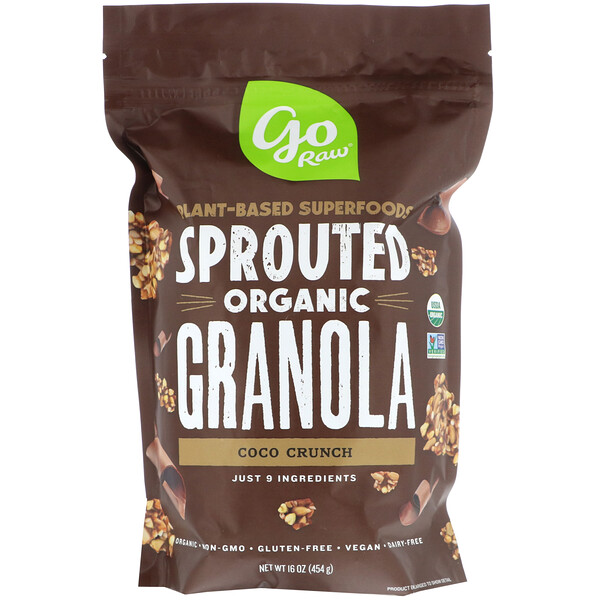 Go Raw, Organic Sprouted Granola, Coco Crunch, 16 oz (454 g)