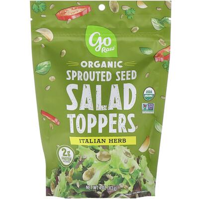 Купить Go Raw Органические пророщенные семена для добавления в салаты, итальянские травы, 113г (4унции)
