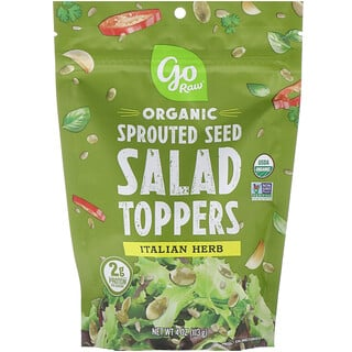 Go Raw, Organic, Sprouted Seed Salad Toppers, Italian Herb, 4 oz (113 g)