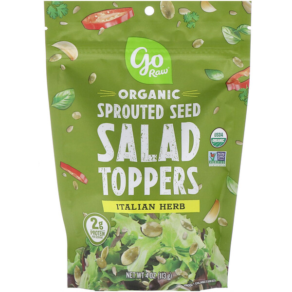 Organic, Sprouted Seed Salad Toppers, Italian Herb, 4 oz (113 g)
