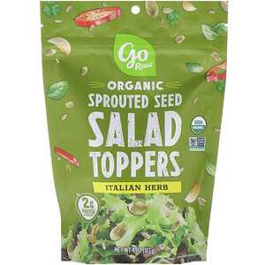 Го Ро, Organic, Sprouted Seed Salad Toppers, Italian Herb, 4 oz (113 g) отзывы покупателей