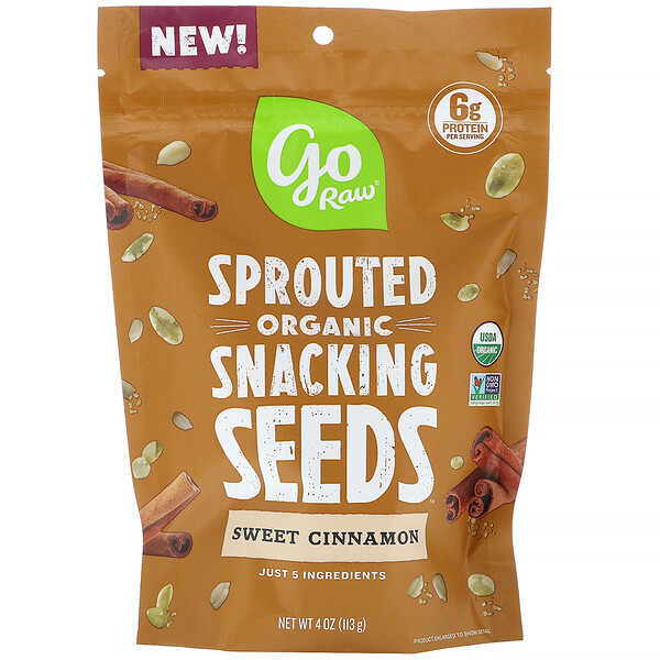 Organic, Sprouted Snacking Seeds, Sweet Cinnamon, 4 oz (113 g)